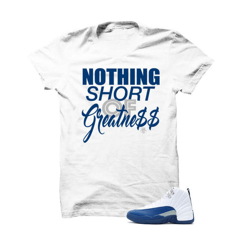Jordan 12 French Blue White T Shirt (Nothing Short)