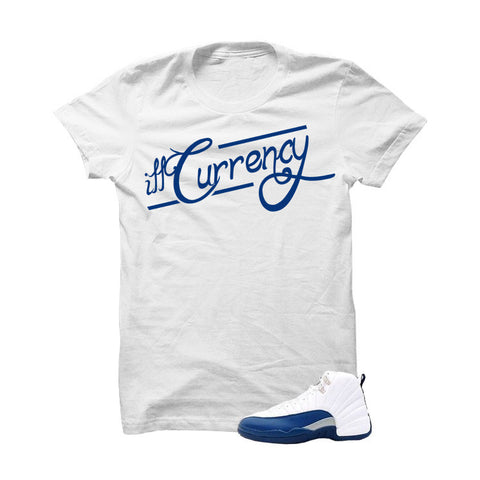 Jordan 12 French Blue White T Shirt (Signature)