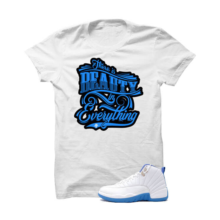 Jordan 12 Gs University Blue White T Shirt (Beauty) - illCurrency Matching T-shirts For Sneakers and Sneaker Release Date News
