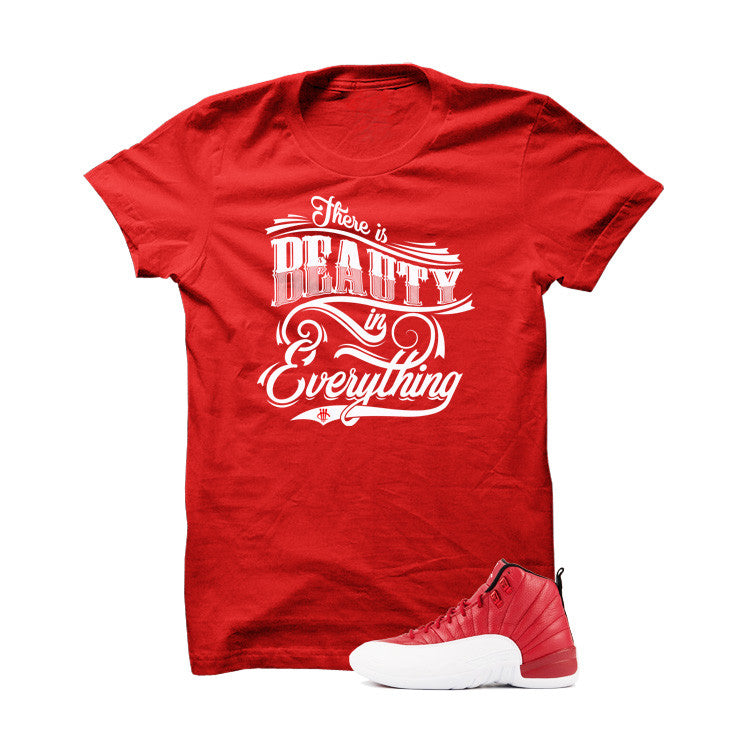 Shirt - Jordan 12 Gym Red T Shirt (Beauty)