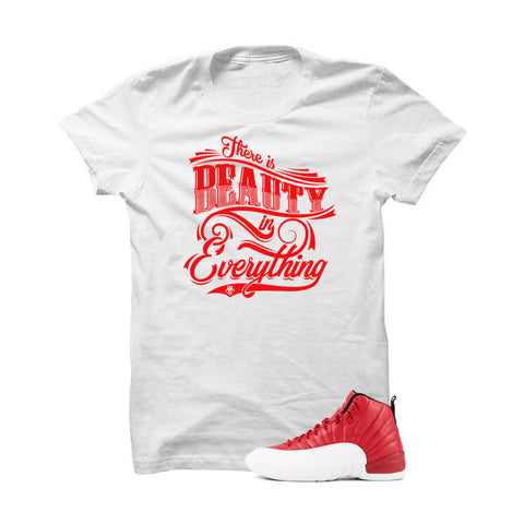 Jordan 12 Gym Red White T Shirt (One Man Army)