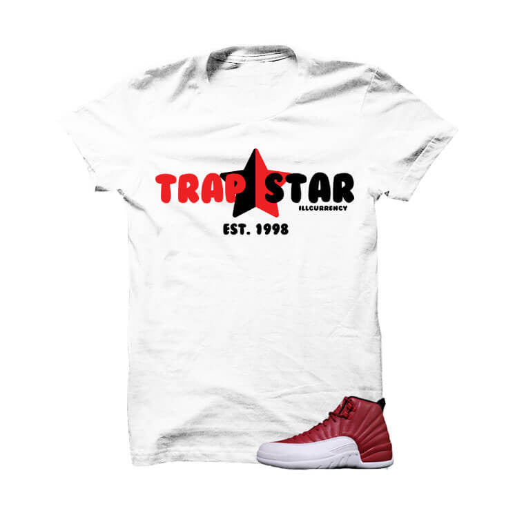 Shirt - Jordan 12 Gym Red White T Shirt (Trap Star)