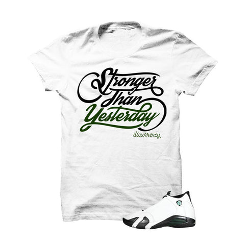 Jordan 14 Oxidized Green White T Shirt (I Have A Dream)