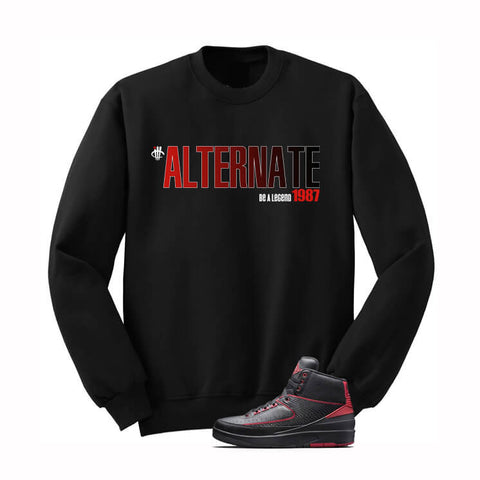 Jordan 2 Alternate 87 Black T Shirt