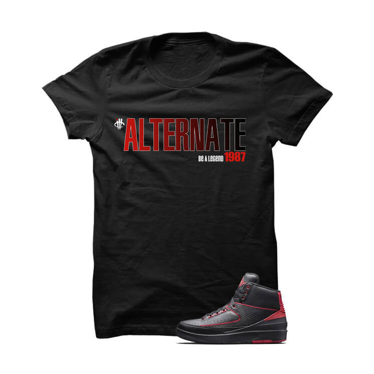 Jordan 2 Alternate 87 Black T Shirt - illCurrency Matching T-shirts For Sneakers, Jordan's and foamposites