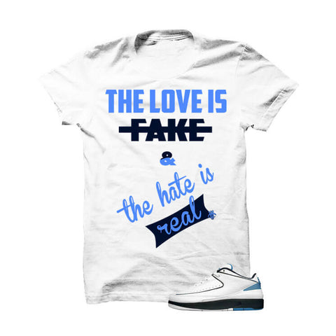 Jordan 2 Low Midnight Navy White T Shirt (Heroes Needed)