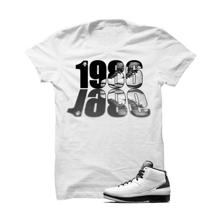 Jordan 2 Wing It White T Shirt (1986) - illCurrency Matching T-shirts For Sneakers, Jordan's and foamposites