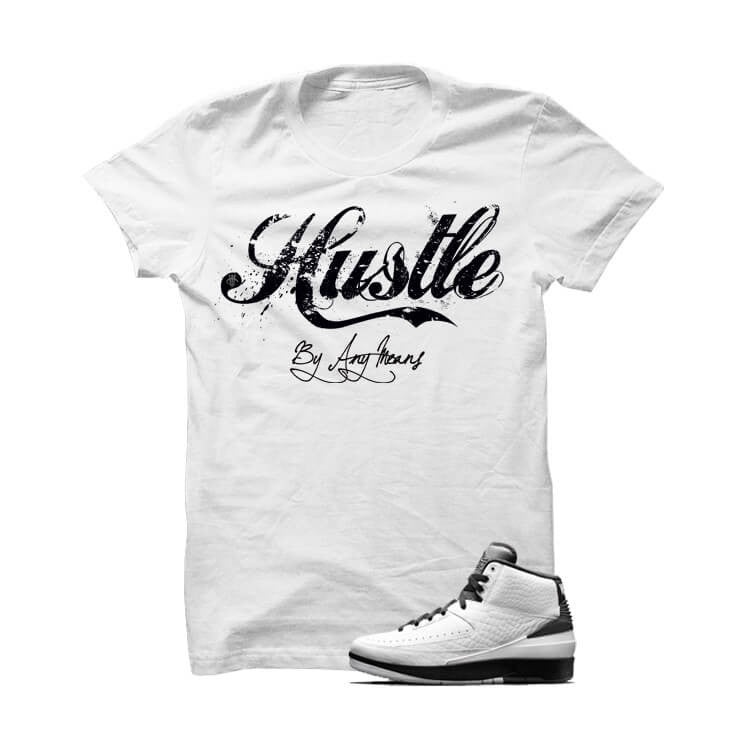Jordan 2 Wing It White T Shirt (Hustle) - illCurrency Matching T-shirts For Sneakers, Jordan's and foamposites