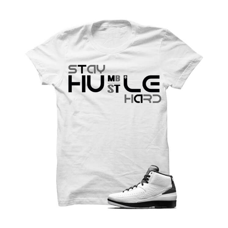 Jordan 2 Wing It White T Shirt (Hustle Hard) - illCurrency Matching T-shirts For Sneakers, Jordan's and foamposites
