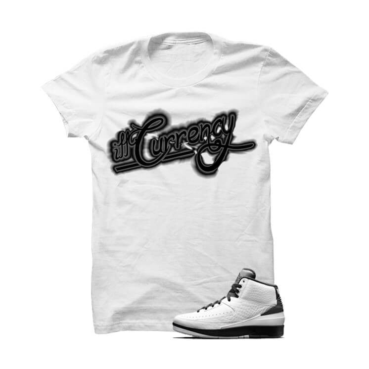Jordan 2 Wing It White T Shirt (Signature) - illCurrency Matching T-shirts For Sneakers, Jordan's and foamposites