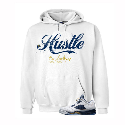 Jordan 5 Dunk From Above White T Shirt (Hustle Hard)