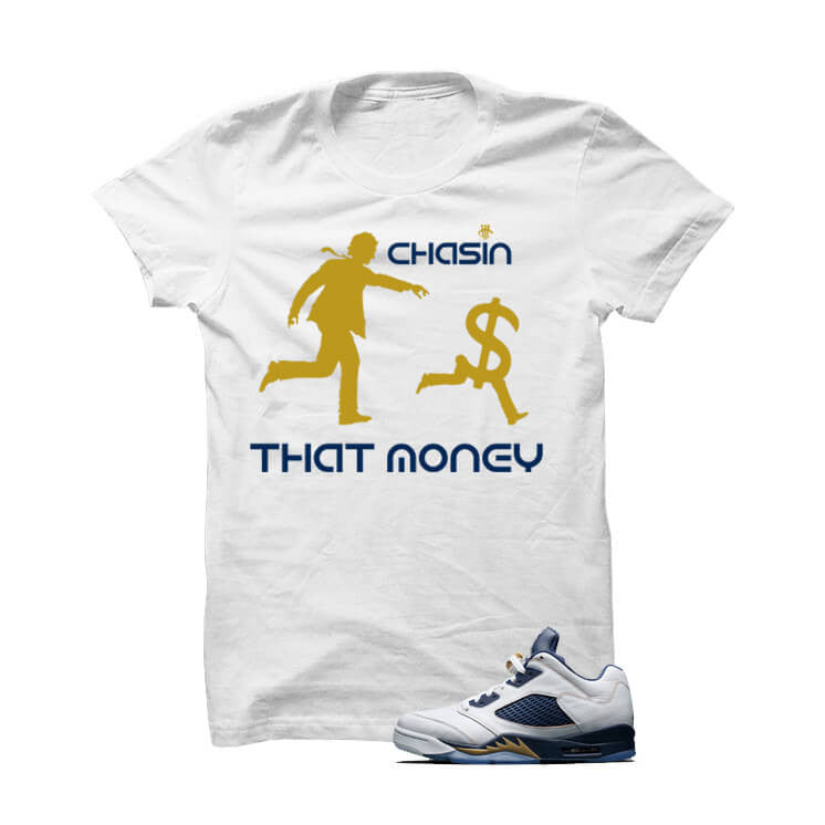 Jordan 5 Dunk From Above White T Shirt (Money) - illCurrency Matching T-shirts For Sneakers, Jordan's and foamposites