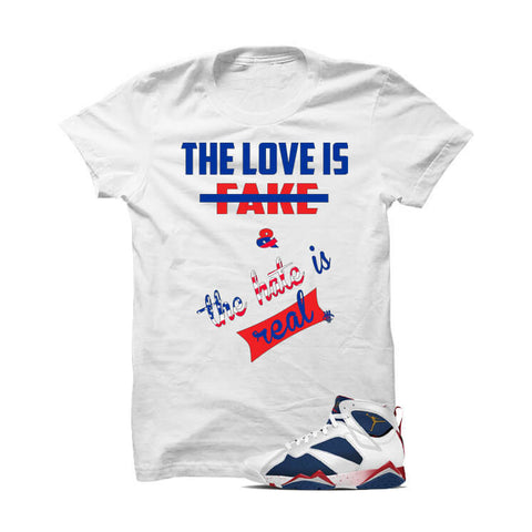 Jordan 7 Tinker Alternate White T Shirt (Self Made)
