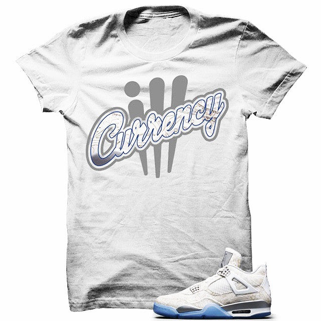 Logo Signature Laser4s White T Shirt - illCurrency Matching T-shirts For Sneakers, Jordan's and foamposites