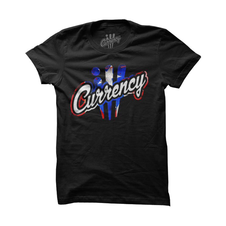 Logo Signature Rican Black T Shirt - illCurrency Matching T-shirts For Sneakers, Jordan's and foamposites