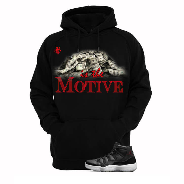 Money Is The Motive Jordan 72 10 Black Hoodie - illCurrency Matching T-shirts For Sneakers and Sneaker Release Date News