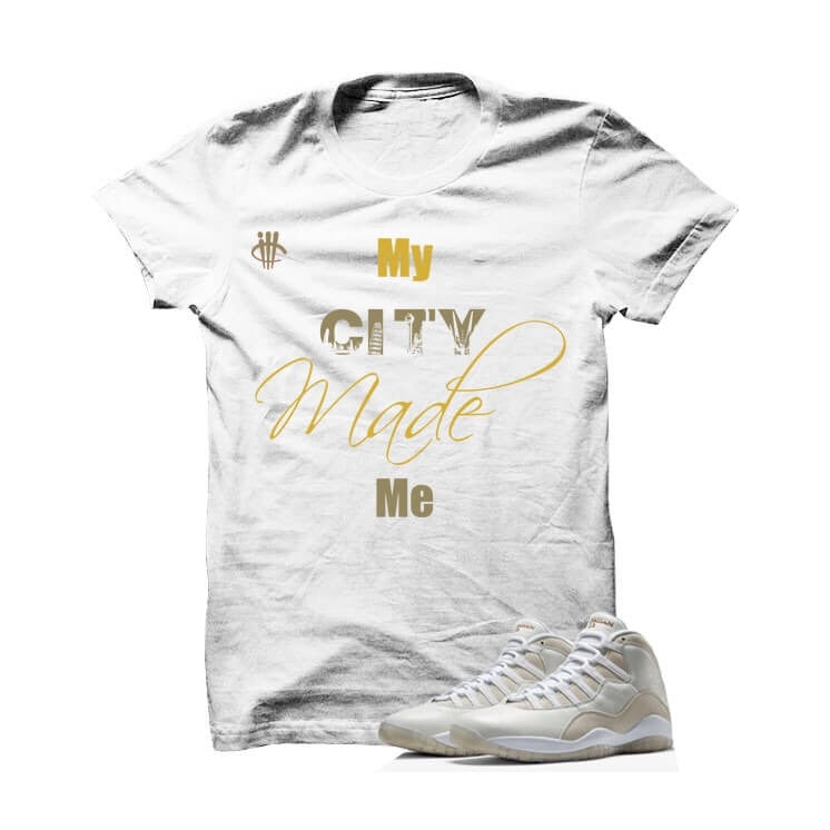 My City Jordan 10s White T Shirt - illCurrency Matching T-shirts For Sneakers and Sneaker Release Date News