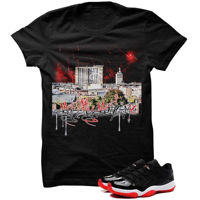 My City LowBred 11 Black T Shirt - illCurrency Matching T-shirts For Sneakers and Sneaker Release Date News