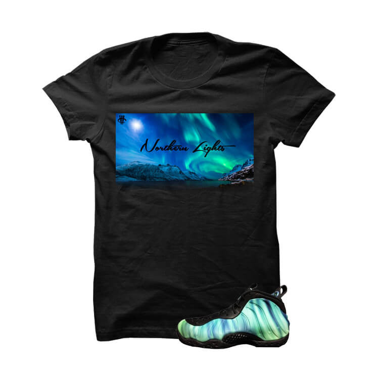 Northern Lights Foams Black T Shirt - illCurrency Matching T-shirts For Sneakers and Sneaker Release Date News