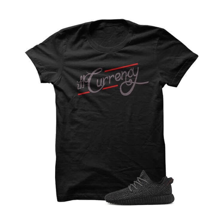 Signature illcurrency Black Yeezy Boost Black T Shirt - illCurrency Matching T-shirts For Sneakers and Sneaker Release Date News