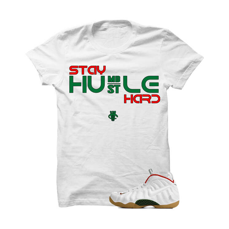 Stay Humble Hustle Hard White Gucci White T Shirt - illCurrency Matching T-shirts For Sneakers and Sneaker Release Date News