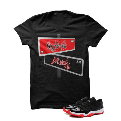 Death Before Dishonor Bred 11s Black T Shirt