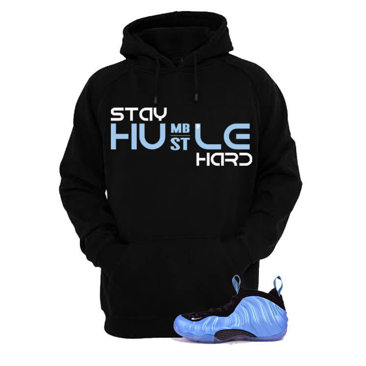 University Blue Foams Black Hoodie (Stay Humble) - illCurrency Matching T-shirts For Sneakers and Sneaker Release Date News