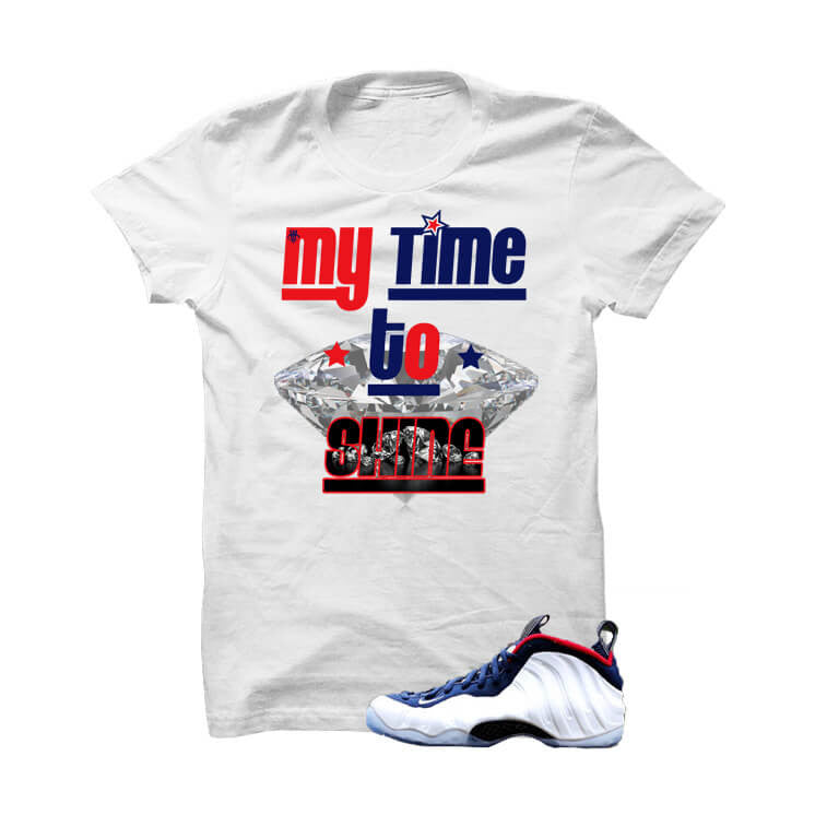 Shirt - USA Foamposite One White T Shirt (My Time To Shine)