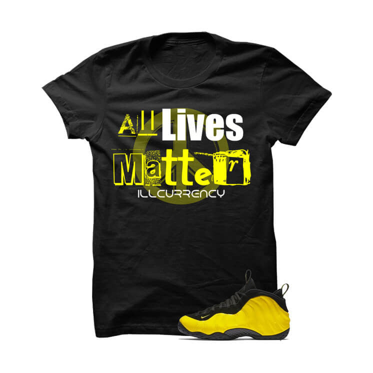 Wu-Tang Foamposite One Black T Shirt (All Lives Matter) - illCurrency Matching T-shirts For Sneakers and Sneaker Release Date News