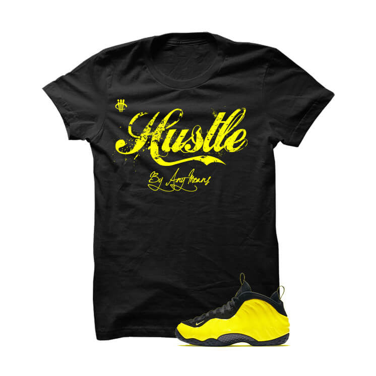Shirt - Wu-Tang Foamposite One Black T Shirt (Hustle By Any Means)