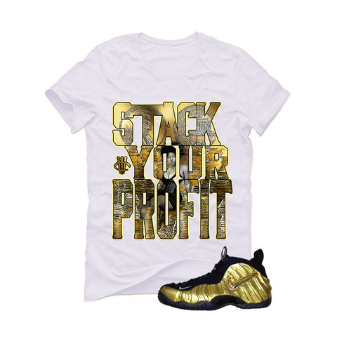 Nike Air Foamposite Pro Metallic Gold White T (Stack)
