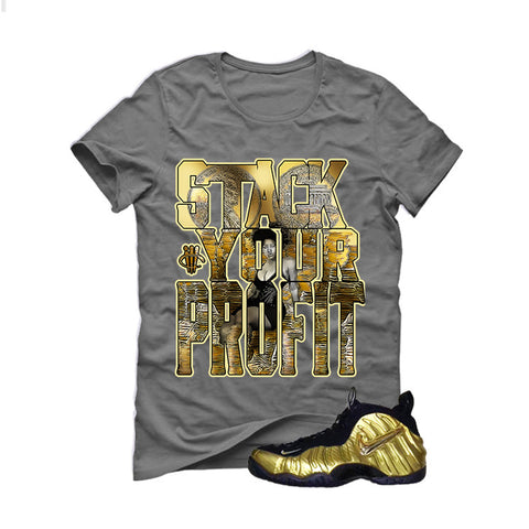 Nike Air Foamposite Pro Metallic Gold Grey T (Stack)