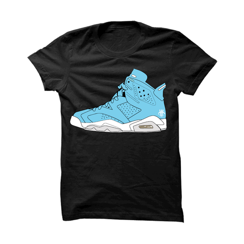 Jordan 6 Gs Still Blue Black T Shirt (thy shoe)