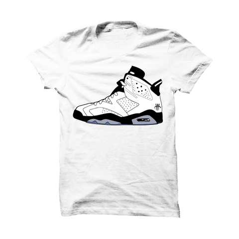 Jordan 6 Gs Hyper Jade White T Shirt (Skateboard Cat)