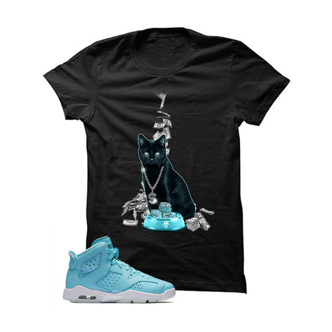 Jordan 6 Gs Still Blue Black T Shirt (Money Cat)