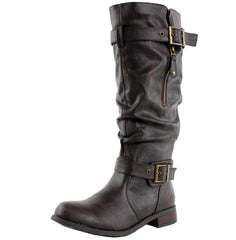 Madras Riding Slouchy Motorcycle Boots