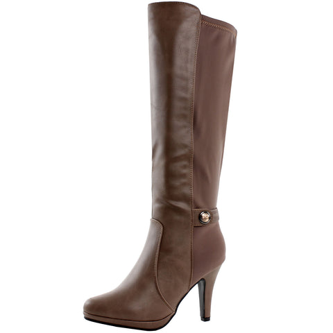 Milan Knee High Stretch Stiletto Boots