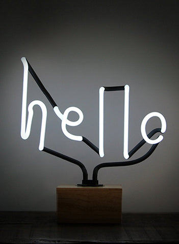 SOMEKIND Neon Hello Wood