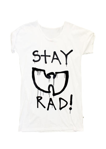 Federation + MINI ME Stay Rad Dress | White/Blk | BE QUICK! LAST ONE SIZE 8