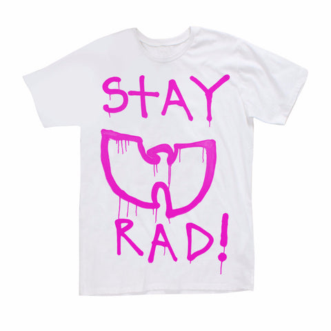 Federation + Mini Me Stay Rad Tee | White/Hot Pink LAST ONE SIZE 8