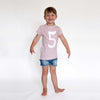HELLO George Number Scoop Tee - Dusty Pink