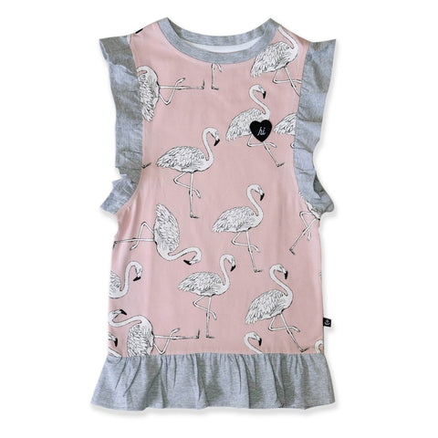 Hello Stranger Flamingo Frill Dress