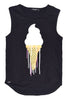 Triangle Diamond Singlet | Ice Cream Print - Black