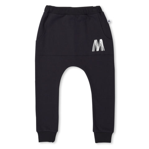 Minti Furry Pouch Trackies Black