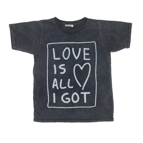 Zuttion Love Is All I Got SS Tee Charcoal