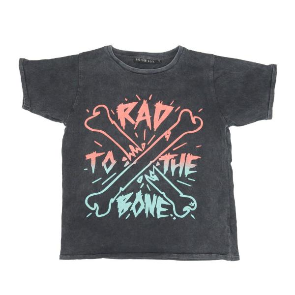 PRE -ORDER Zuttion Rad to the Bone SS Tee Charcoal