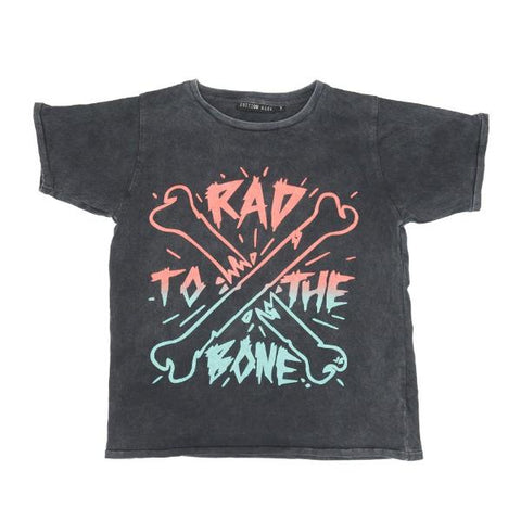 Zuttion Rad to the Bone SS Tee Charcoal