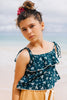 ISLAND STATE CO Girls Floral Top - Blue Floral