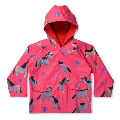 PREORDER Minti Magical Lined Raincoat Hot Pink