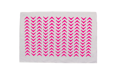 Aztec Neon Pink Pillowcase - PAIR
